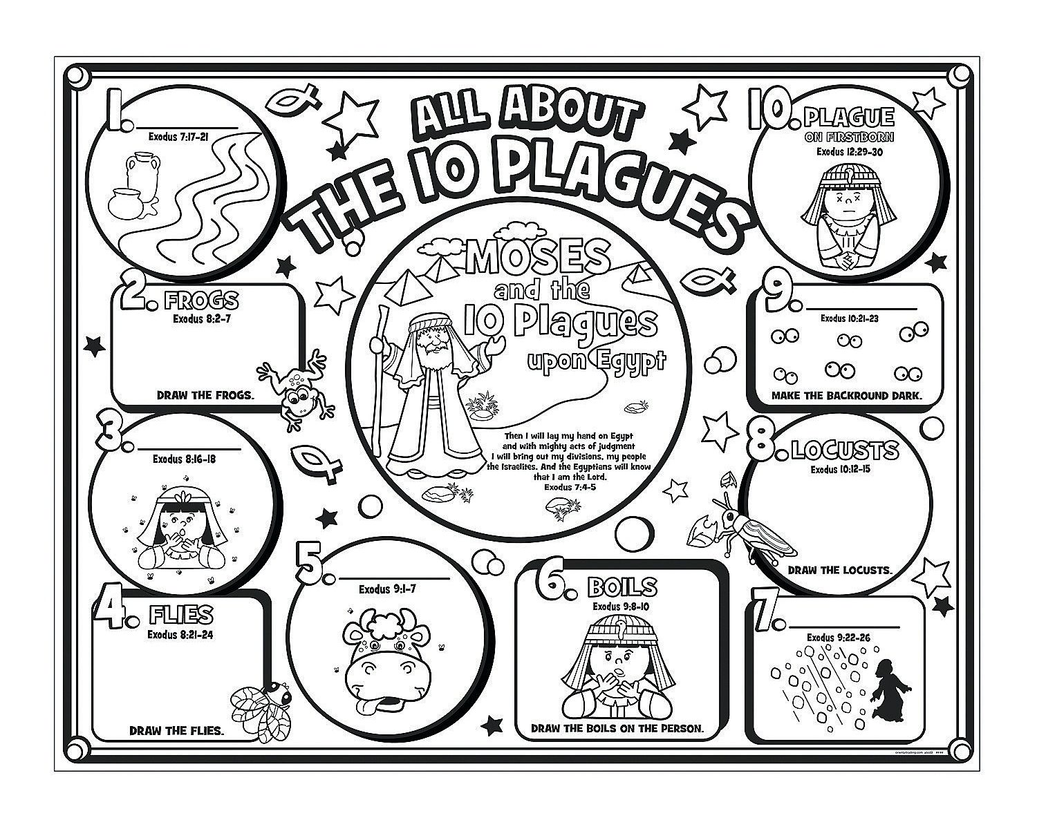 image about 10 Plagues Printable named Plagues Of Egypt Coloring Web site at  Free of charge for