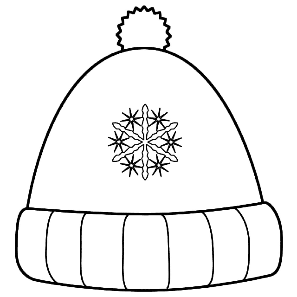 1024x1024 Fresh Plain Winter Hats Coloring Pages Templates Collection Great