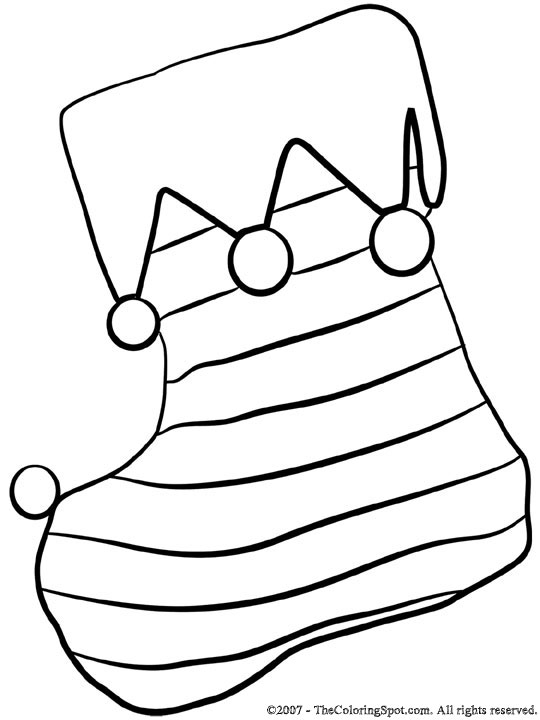540x720 Plain Christmas Stocking Coloring Page Stocking Coloring Page