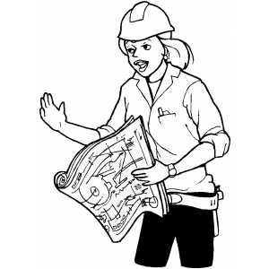 300x300 Foreman Explaine Working Plan Coloring Page