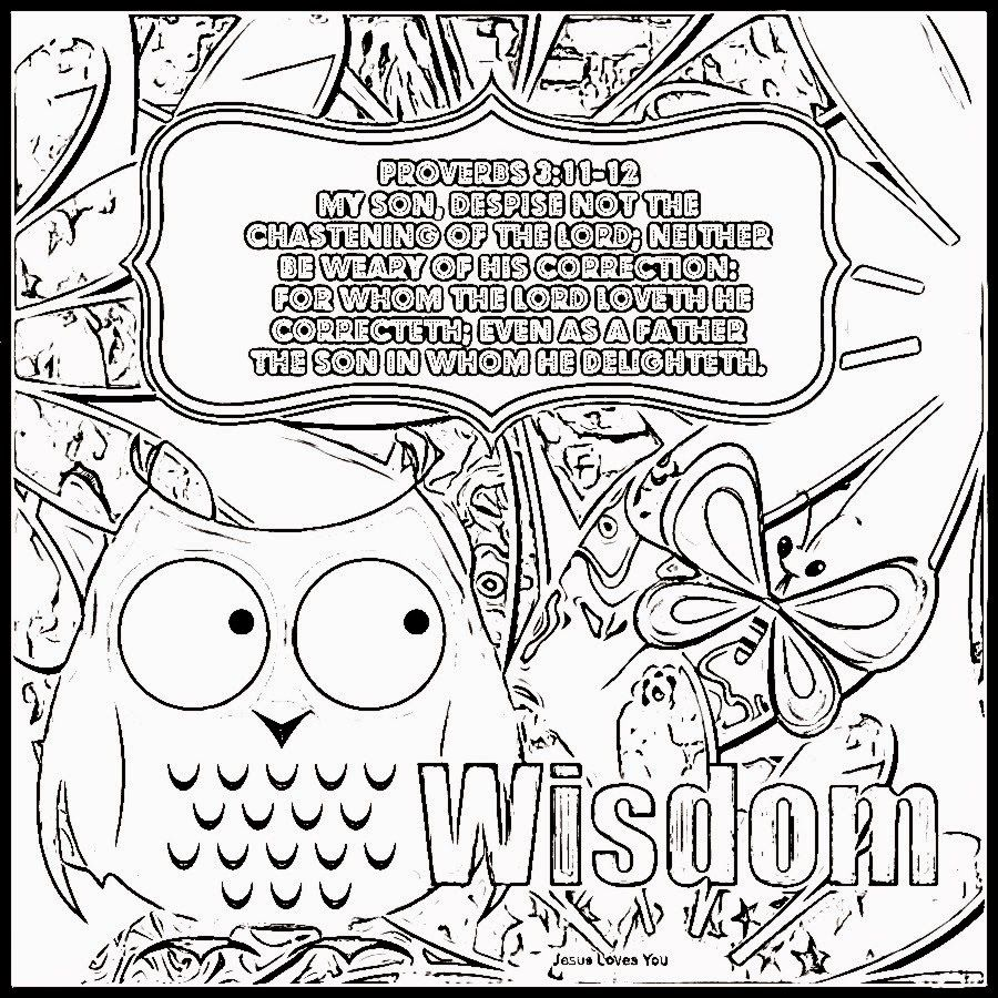 900x900 Awesome Wisdom Proverbs Coloring Page Melissa And Pics Of Plan