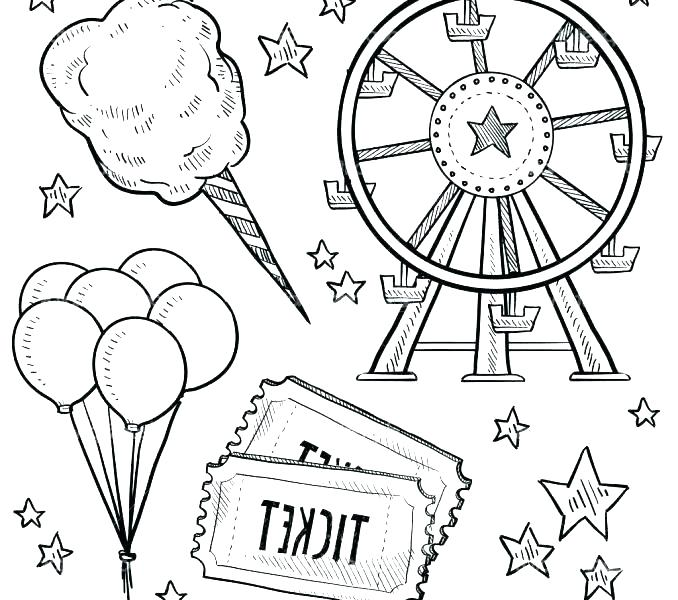 678x600 Carnival Coloring Page Carnival Coloring Page Pages With Plan