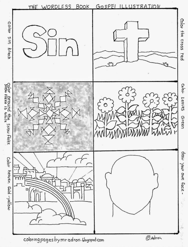 Plan Of Salvation Coloring Page