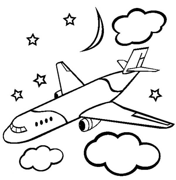 Plane Coloring Pages At Getdrawings Com Free For Personal