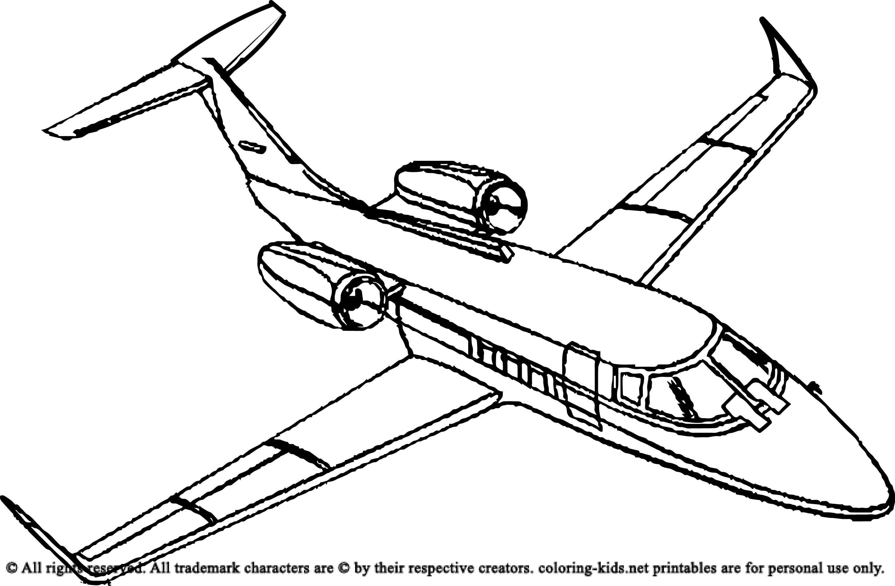 3049x1997 Plane Coloring Pages Airplane With A Beautiful Glass Airplanes