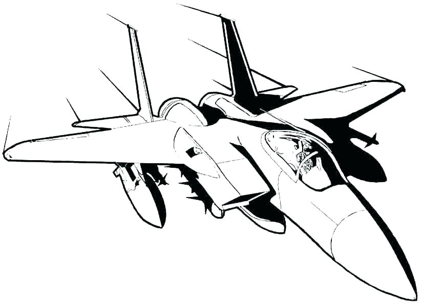 824x600 Airplane Coloring Pages Simple Printable Coloring Fighter Jet