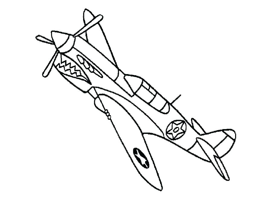900x675 Airplane Coloring Pages To Print Simple Airplane Coloring Pages