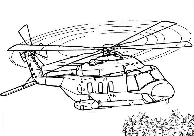 800x560 Helicopter Coloring Pages