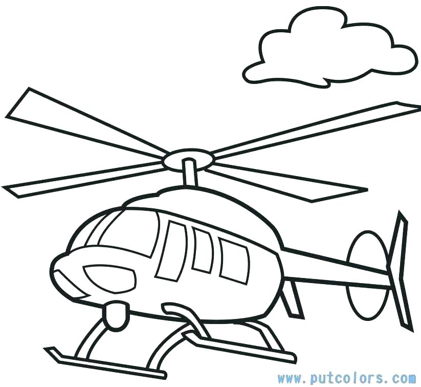 823x756 Airplane Coloring Pages Free