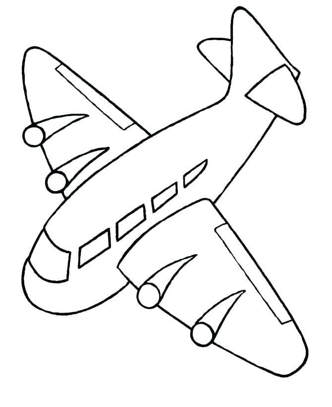 670x820 Printable Airplane Coloring Pages