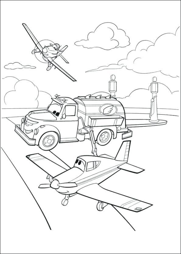 595x834 Planes Coloring Page Cargo Plane Coloring Page Disney Planes