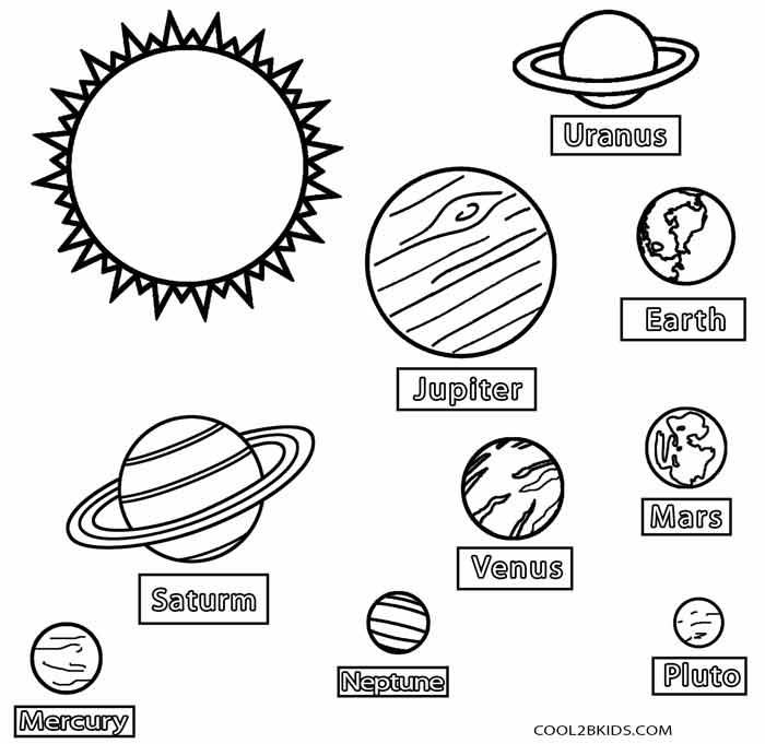 Planet Coloring Pages For Kids