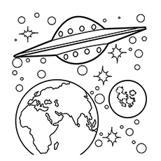 Planet Coloring Pages With The 9 Planets