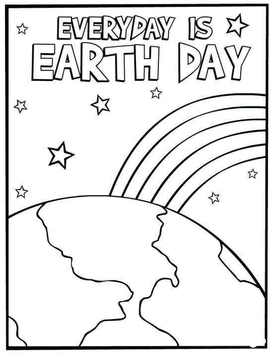 550x711 Earth Day Coloring Pages Printable Printable Coloring Planet Earth