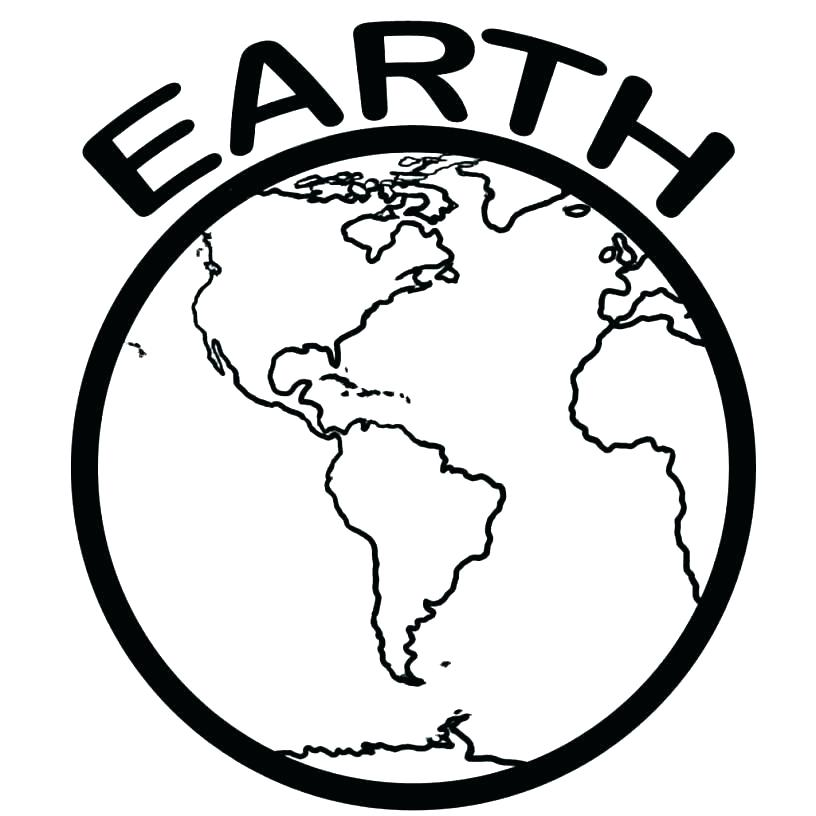 816x816 Planet Earth Coloring Page