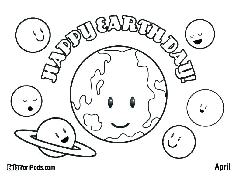 776x600 Planet Earth Coloring Page