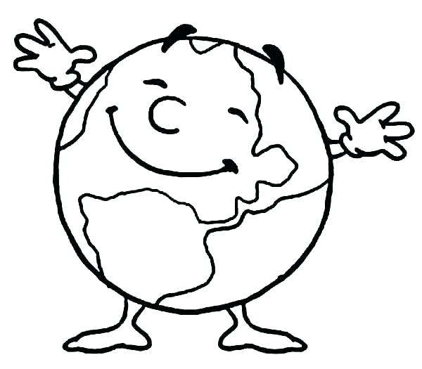 600x525 Earth Coloring Page Earth Coloring Page Coloring Pages Free