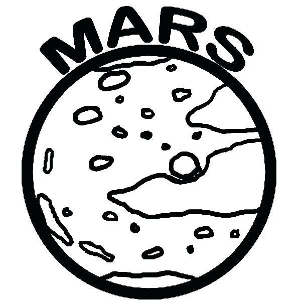 Planet Mars Coloring Pages