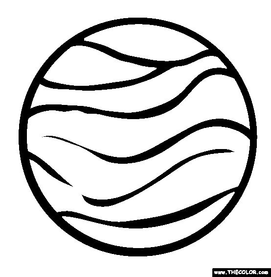 Planet Venus Coloring Pages