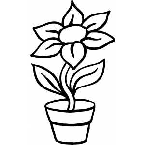 300x300 Plants And Flowers Coloring Pages