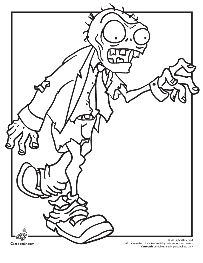 Plants Versus Zombies Coloring Pages