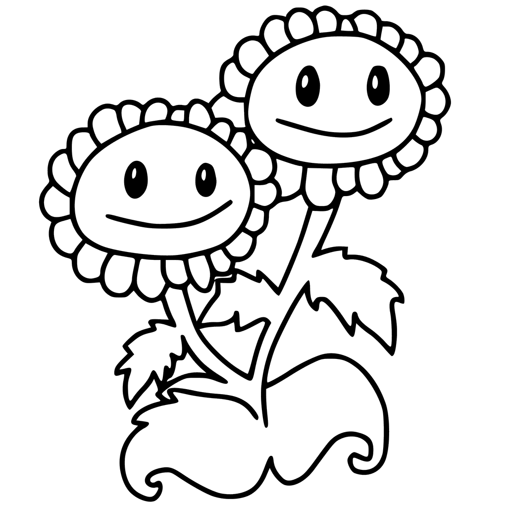 1024x1020 Free Printable Plants Vs Zombies Coloring Pages