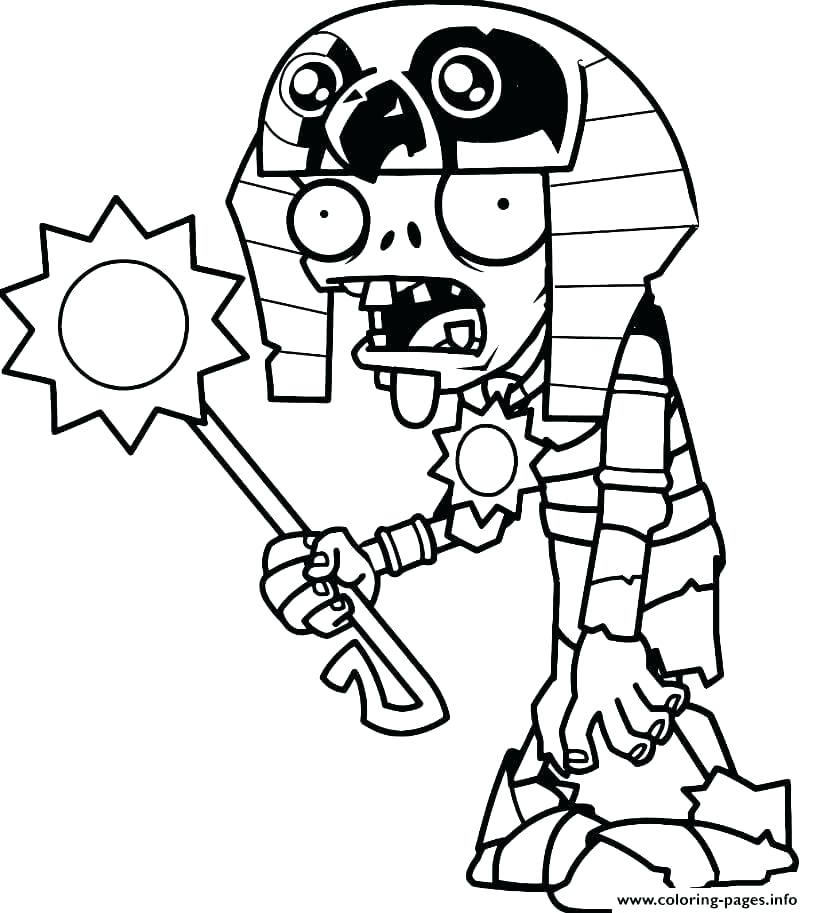 813x913 Plants Vs Zombies Coloring Pages For Kids