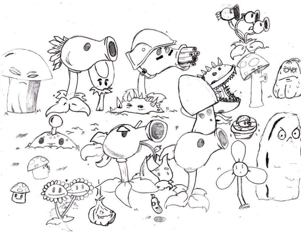 Wonderbaar Plants Vs Zombies Coloring Pages at GetDrawings | Free download QB-17