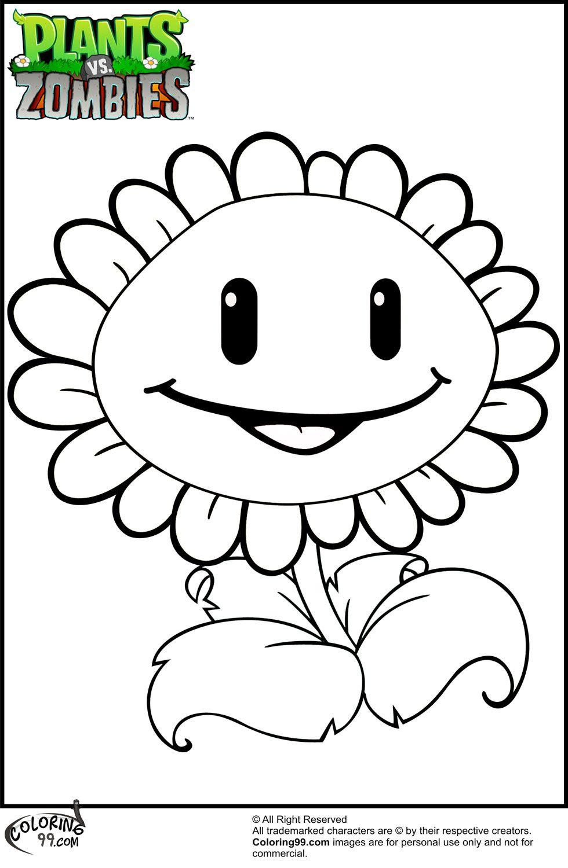 980x1500 Plants Vs Zombies Coloring Pages Team Colors Plantas Vs
