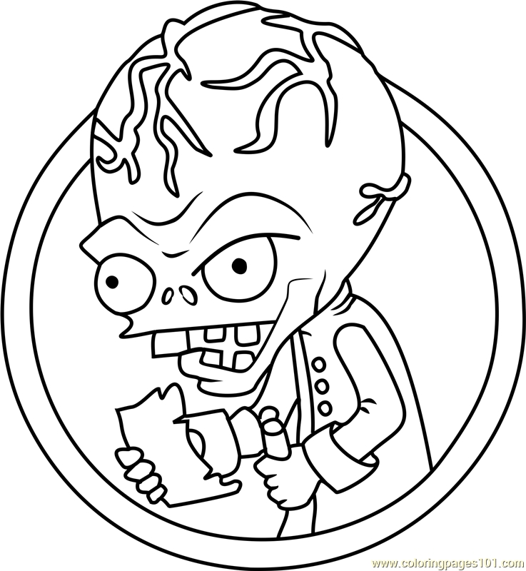 737x800 Plants Vs Zombies Coloring Pages Dr Zomboss Collection