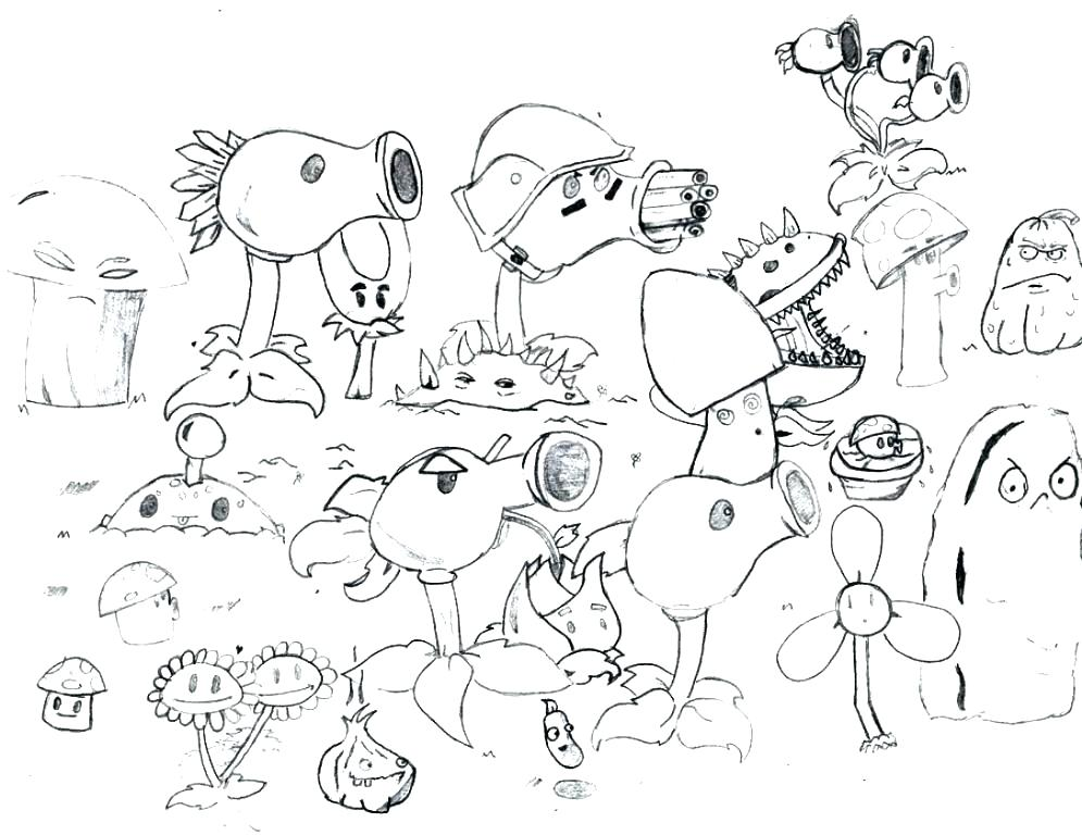 995x768 Plants Vs Zombies Coloring Pages Printable Plants Vs Zombies