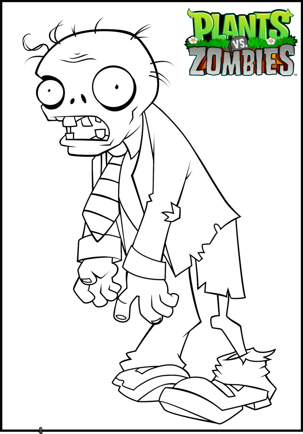 1020x1461 Plants Vs Zombies To Color For Kids