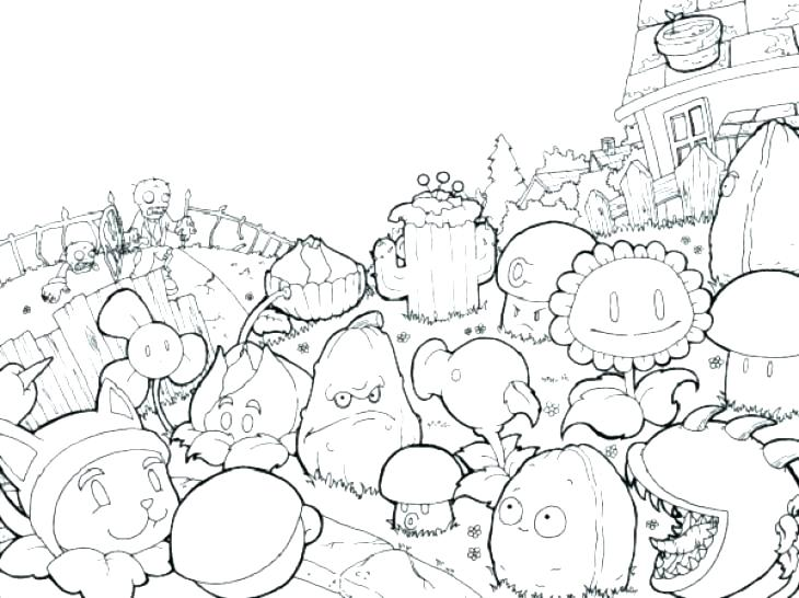 730x546 Zombie Coloring Pages Zombie Coloring Book Plus Plants Coloring