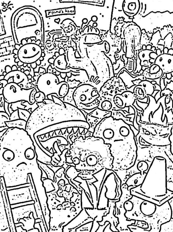 600x805 Plants Vs Zombies Coloring Pages To Download And Print For Free