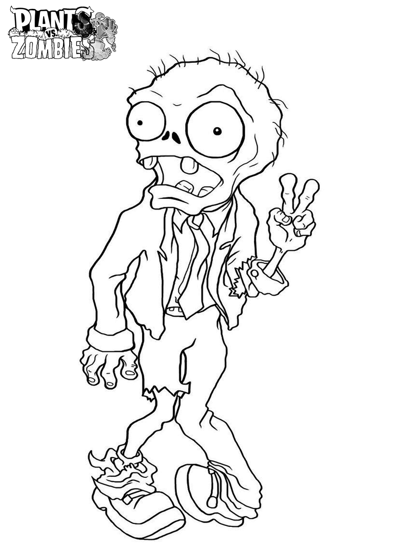 800x1120 Free Printable Plants Vs Zombies Coloring Pages For Kids