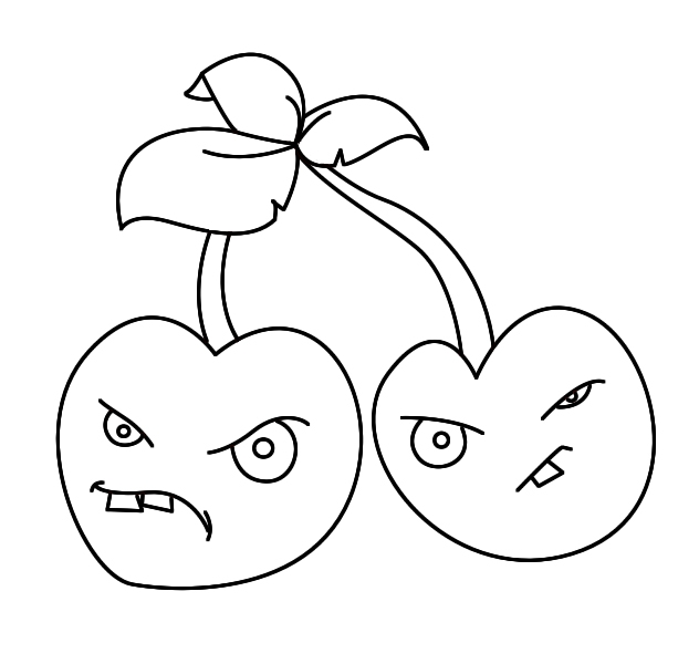 632x600 How To Draw Plants Vs Zombies Cherries Draw Central Plants Vs