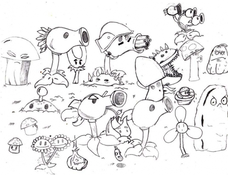 Plants Vs Zombies Coloring Pages For Kids at GetDrawings ...