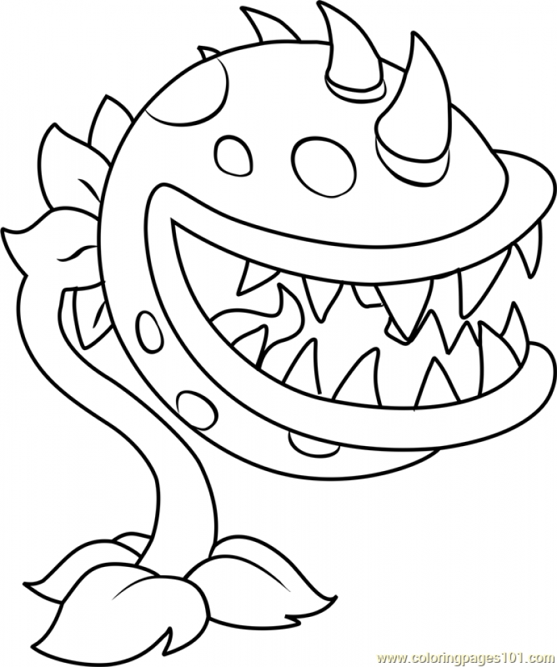 Plants Vs Zombies Coloring Pages For Kids At Getdrawings Free