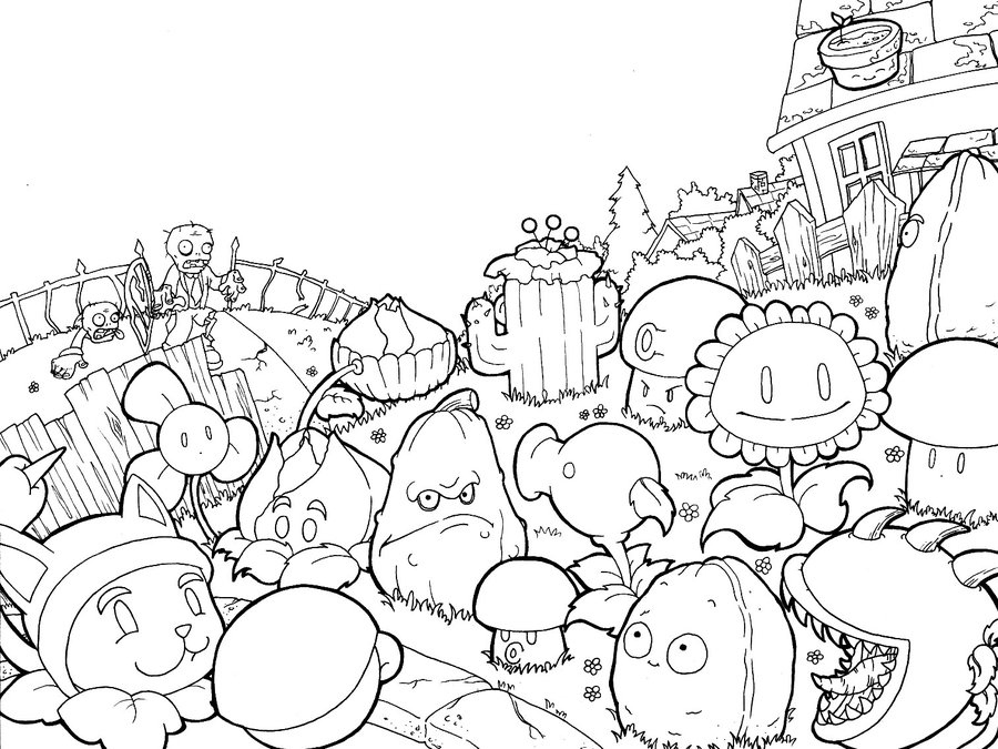 Plants Vs Zombies 2 Coloring Pages at GetDrawings | Free ...