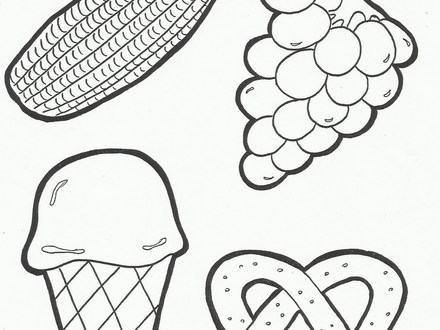 440x330 My Plate Coloring Page, Children Will Have Fun Learning