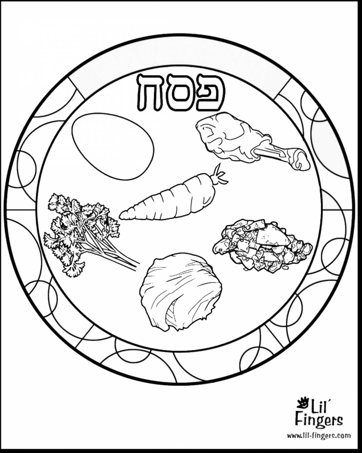 1232x1540 Incredible Passover Seder Plate Coloring Page
