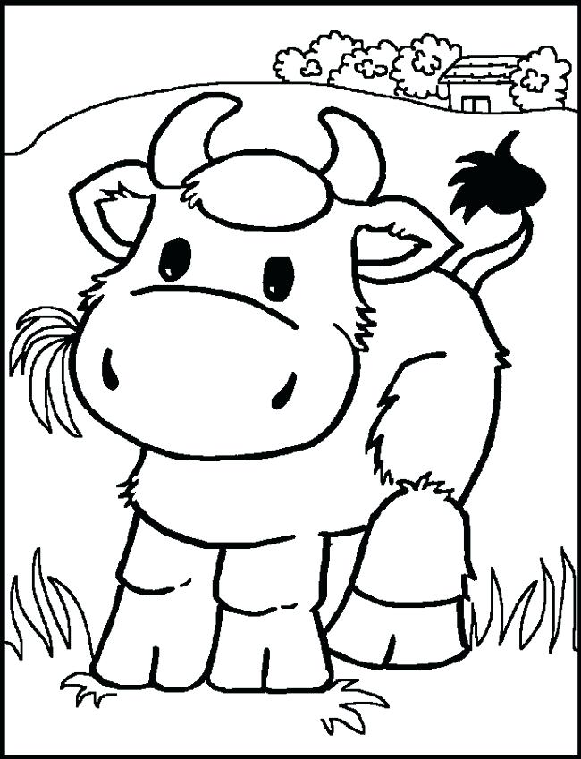 650x849 Coloring Pages Of Cows Coloring Pages For Kids Cow Color Page