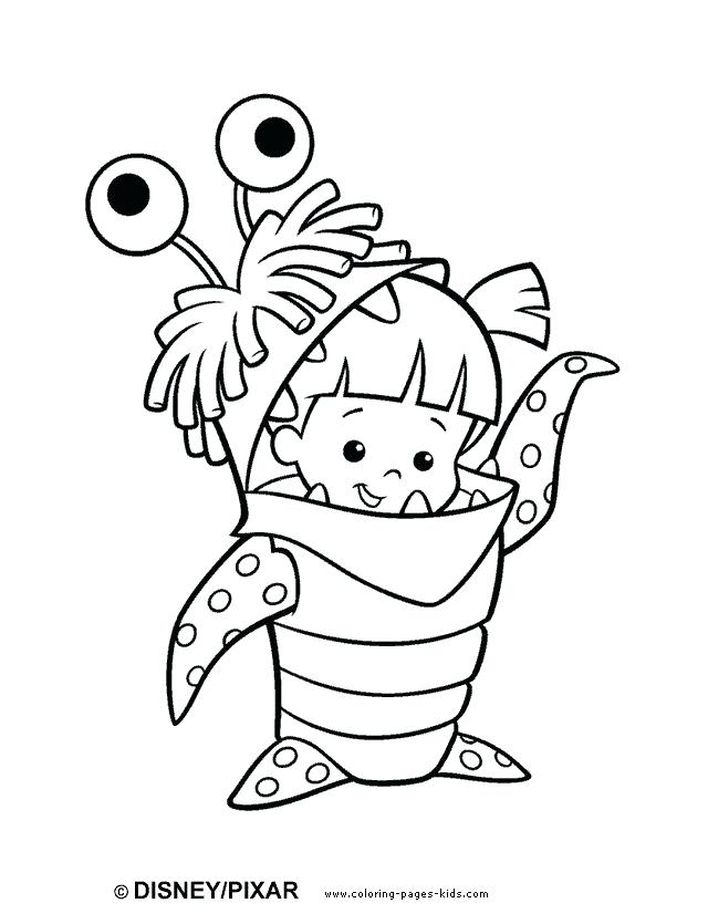 640x835 Coloring Pages To Color Coloring Pages Cartoon Monsters Inc Color