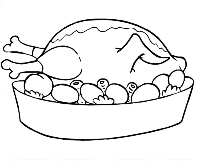 Plate Of Food Coloring Page