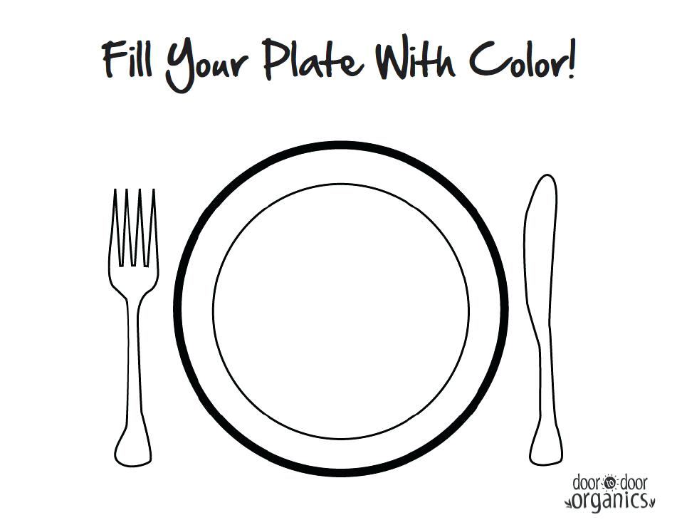 951x737 Plate Coloring Page Healthy Food Plate Coloring Page Sketch