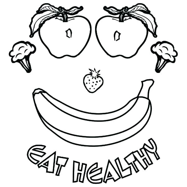 600x600 Coloring Pages Food Apple Colouring Page Coloring Pages Food