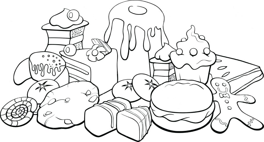 1024x553 Coloring Pages Of Food Coloring Pages Food Food Coloring Book