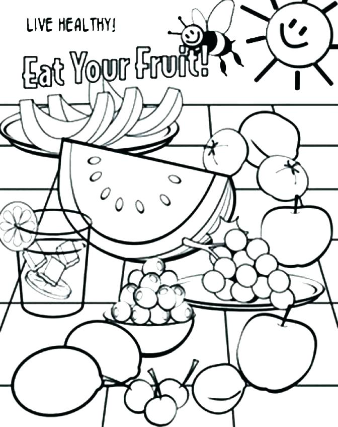 672x847 Coloring Pages Of Food Healthy Coloring Pages Healthy Food