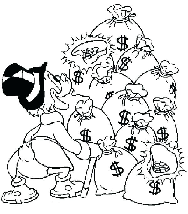 600x682 Coloring Pages Money