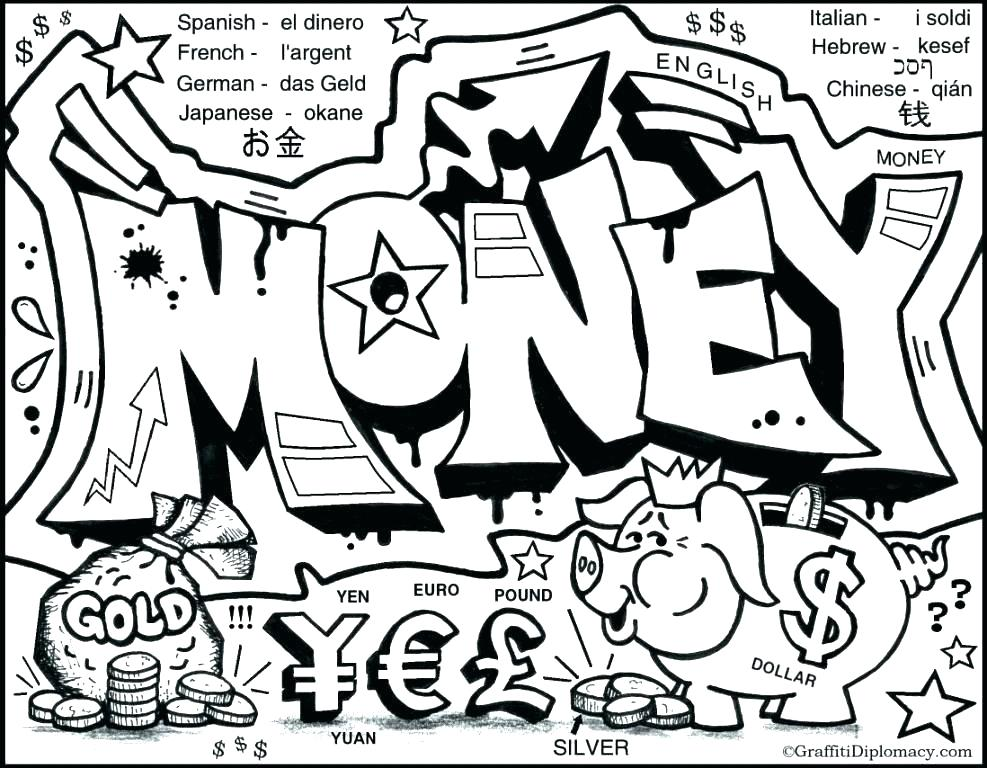 987x768 Coloring Pages Money Printable Coloring Page Sheets Pages